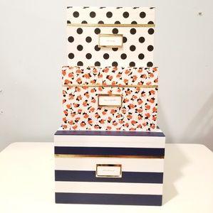 Kate Spade Nesting Boxes set of 3